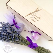 Коробочка с цветами крымской лаванды + мыло и саше
